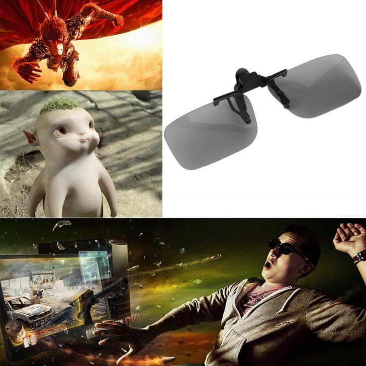 2017 Cheap Clip on Prescription Passive Circular Polarized 3D Glasses  Film 3D Passive Watching Glasses Clip for TV Cinema Film