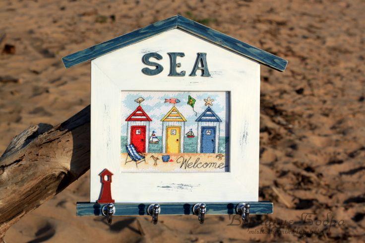 Gallery.ru / Фото #1 - Ключница Пляжные домики - bobrika
