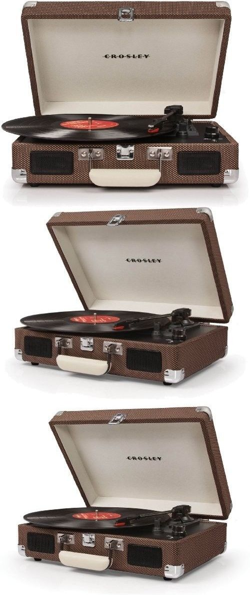 Record Players Home Turntables: Turntable Record Player Tweed Vintage Stereo Vinyl Automatic Belt-Drive BUY IT NOW ONLY: $84.33