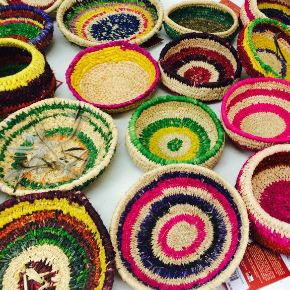 Hand-crafted by Aboriginal women artists of the Central and Western deserts of Australia. Tjanpi Desert Weavers create baskets from locally collected desert grasses bound with string, wool or raffia, often incorporating feathers, seeds and found materials. Tjanpi artworks are unique, innovative and constantly evolving. ...goodgift.org.au