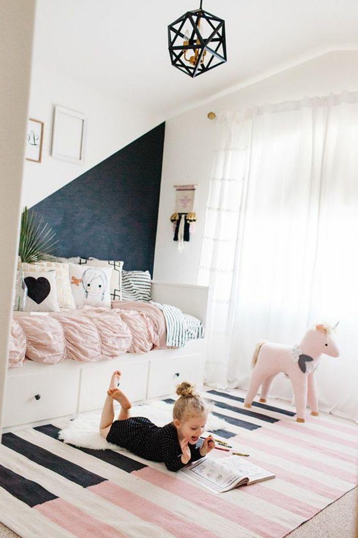 peinture acrylique murale mur noir chambre d enfant fille chambre petite fille pinterest. Black Bedroom Furniture Sets. Home Design Ideas