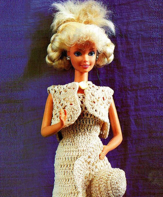 PDF Barbie Dolls 'Party' Dress & Hat Crochet Pattern, Doll Dress, Dolls Clothes, Sindy Doll, Fashion Doll, Pullip Doll, Blythe Dollx