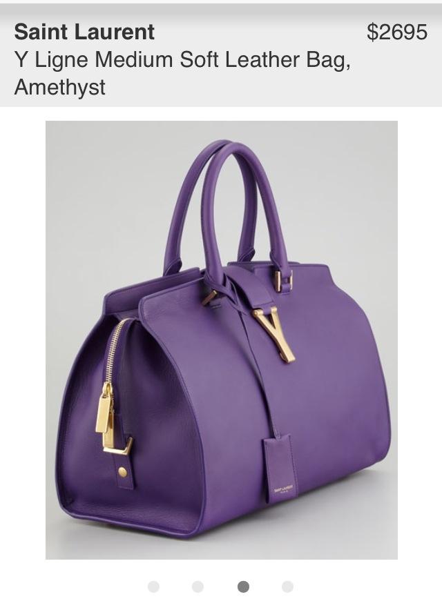 YSL: Y Ligne Medium soft leather bag in Amethyst. ? | Bags ...