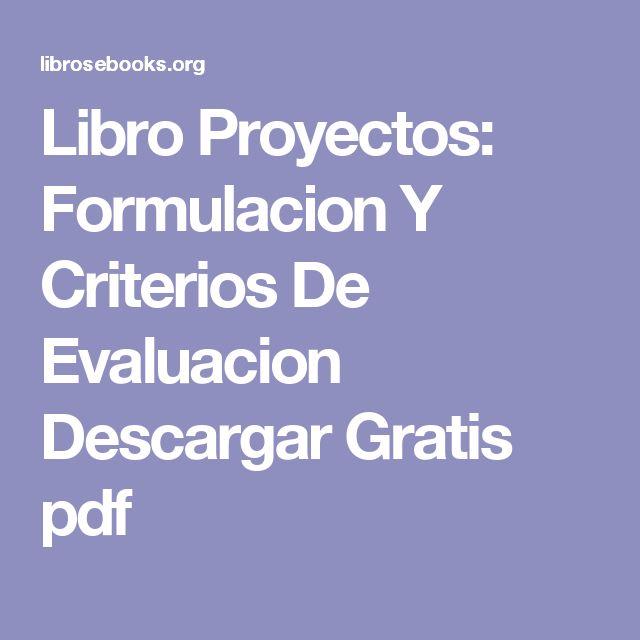 Formulacion y evaluacion de proyectos rafael mendez pdf libro