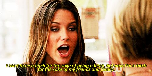 "And isn't afraid to get feisty for those she cares about. | 17 Reasons We All Wanted To Be Brooke Davis From ""One Tree Hill"""