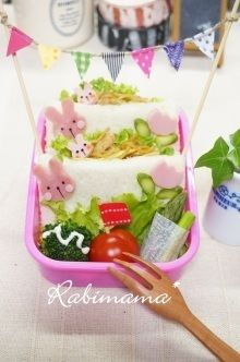 【焼きそばdeポケットサンドの可愛いデコのお弁当(ママ弁)…】|レシピブログ