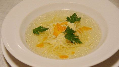 Polish chicken noodle soup Rosol (broth)