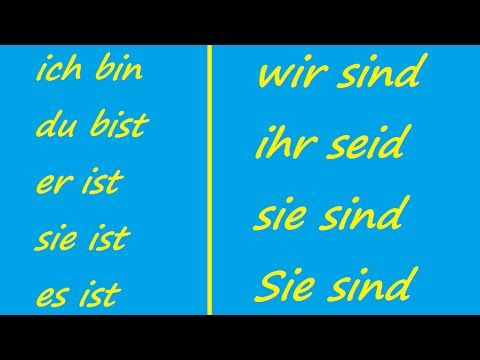 ♫ Sein Conjugation Song ♫ German Conjugation ♫ Das Lied der Konjugation ...