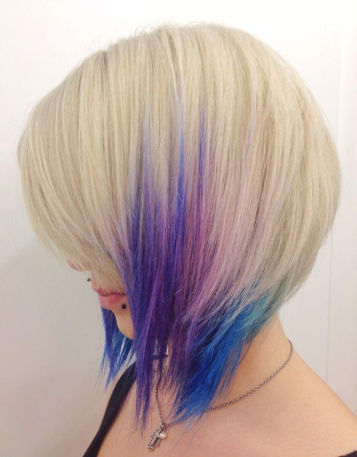 #sfumature di blu viola e rosa per #capelli dal sapore d'#estate !