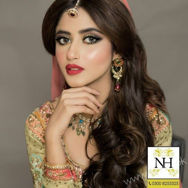 Sajal Ali Bridal Beauty Shoot Nadia Hussain Salon