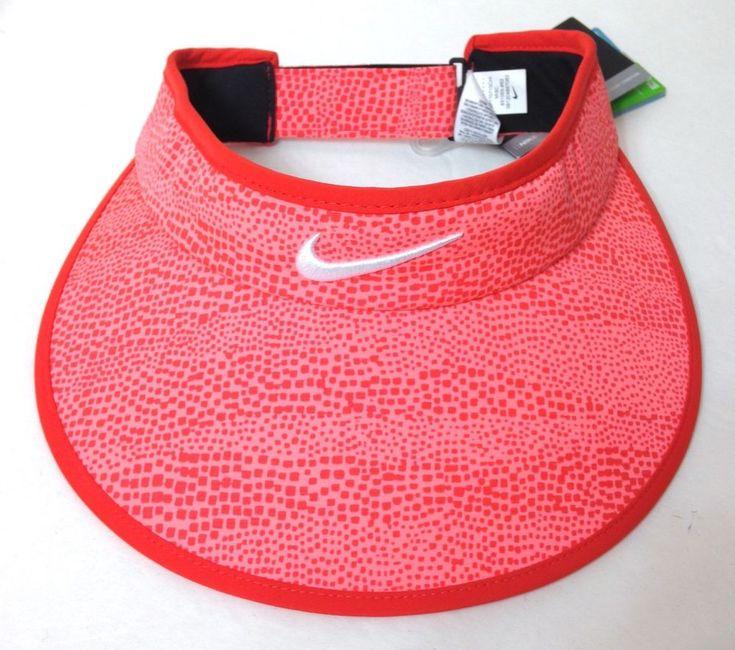 New$26 Womens NIKE GOLF WIDE BRIM VISOR Ladies Dry Fit Golf Sun Hat Coral Pink #Nike #Visor #Golf