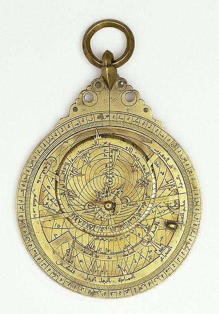 """Astrolabe, dated A.H. 496 / A.D. 1102–1103. Islamic Culture, Iran. Brass. The Metropolitan Museum of Art, New York. Museo Galileo: Institute and Museum of the History of Science, Florence (1105) 