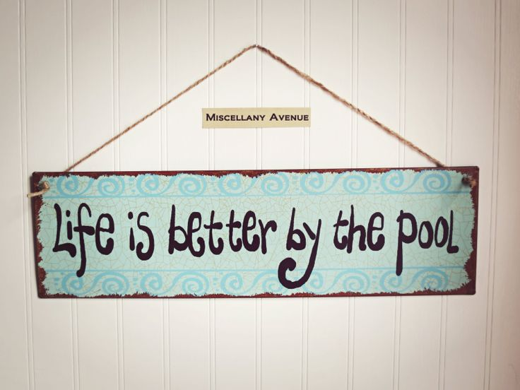 Pool Decor / Pool Sign / Summer Decor / Beach by MiscellanyAvenue, $24.00