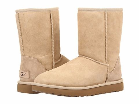 UGG CLASSIC SHORT II BOOTS SAND $135 AVAILABLE IN 8 COLORS! - FREE WORLD SHIPPING - BEST PRICES GUARANTEED AT SOPHIA SPANO LINGERIE SHOP - SOPHIASPANO.COM