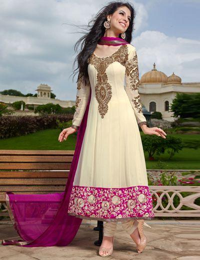 http://www.g3fashions.in/product/cream-georgette-trendy-salwar-kameez-2107.html  G3-WSS0561