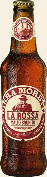 Bottiglia di Birra Moretti La Rossa