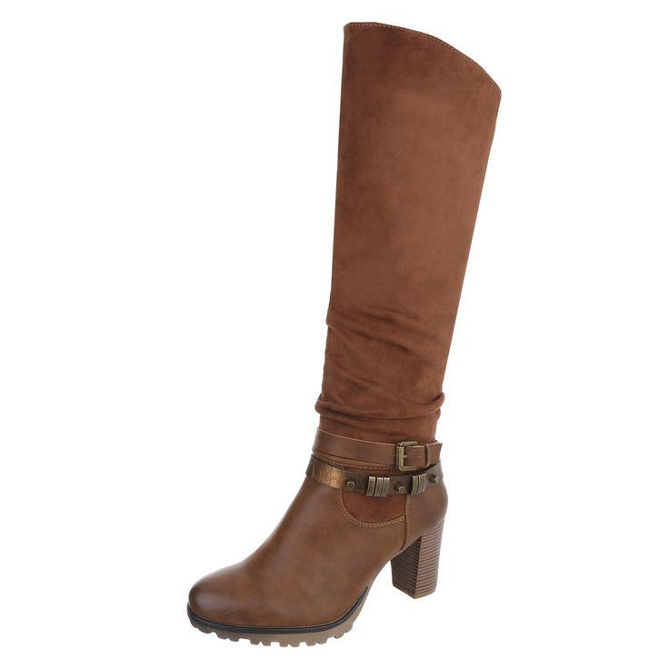 24,99 € - Dieser modische Stiefel aus einem Mix aus hochwertigen Wildleder- und Lederimitat liegt mit seinem schlichten Design voll im Trend! Der Stiefel, der knapp über dem Knie endet, ist super mit Röhrenjeans oder Leggings kombinierbar. Um auch...