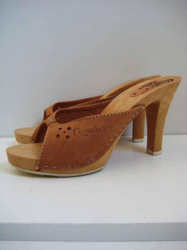 I loved my Candies. 1970's Candies in Caramel Suede and wooden heel. Made in Italy.