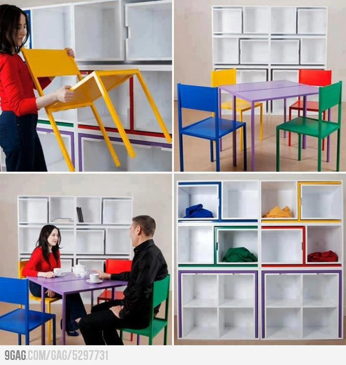 Saving space like a boss space saving furniture this for Cool space saving ideas