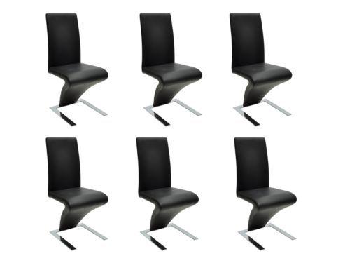 6 Stühle Stuhlgruppe Esszimmerstühle Sitzgruppe Stuhl Essgruppe Schwarz NEU #S; EEK Asparen25.com , sparen25.de , sparen25.info