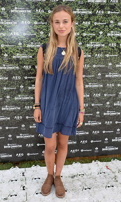 Lady Amelia Windsor showed off her festival style at the Barclaycard Exclusive British Summer Time Festival at London's Hyde Park on July 9.