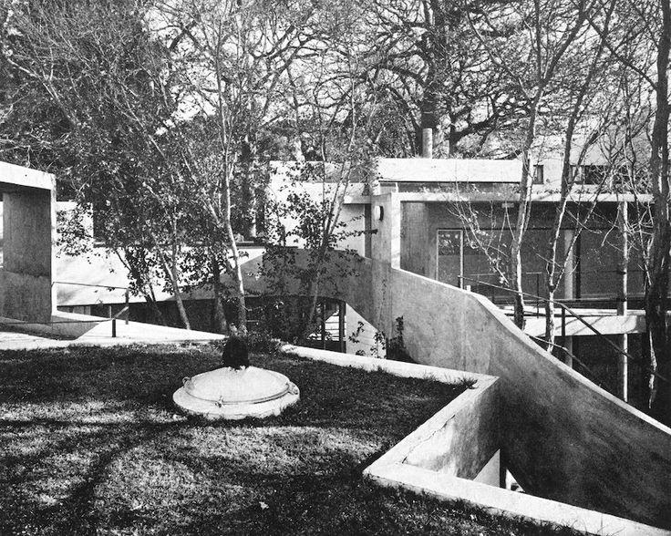 Rowan Lane #5, Cape Town 1968-72.  A de Souza Santos Architect. View of  roofscape in 1973