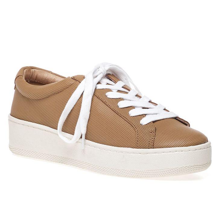 JSlides Footwear JILLY Camel Leather Sneaker - $135.00