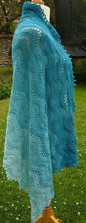 Ravelry: Rippling waves shawl pattern by Helen Kennedy