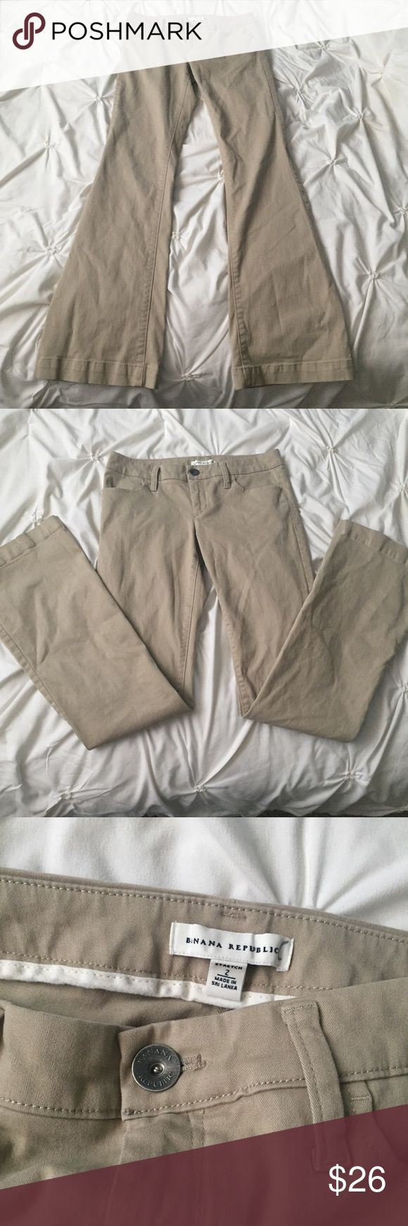 Banana Republic Khaki Stretch Dress Pants Banana Republic Khaki Stretch Dress Pants size 2  - bootcut fit ----- 🚭 All items are from a non-smoking home. 👆🏻Item is as described, feel free to ask questions. 📦 I am a fast shipper with excellent ratings. 👗I love bundles & bundle discounts. Feel free to make an offer! 😍 Like this item? Check out the rest of my closet! 💖 Thanks for looking! Banana Republic Pants Boot Cut & Flare