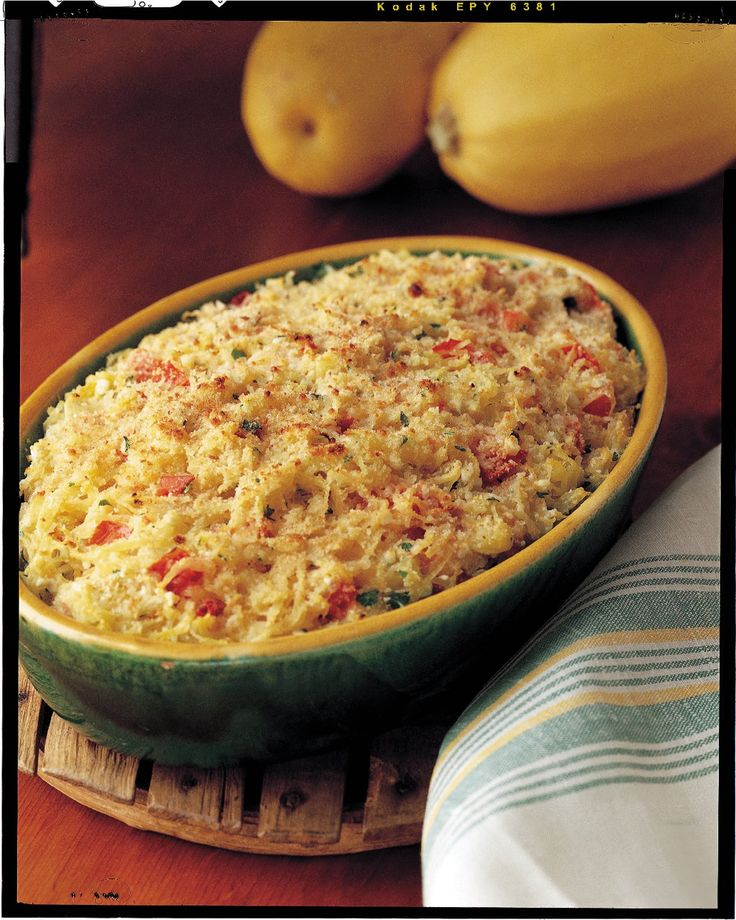 Spaghetti squash casserole...but sub rotel for tomatoes & add chicken...(no after photo) It was a perfect way to use leftover spaghetti squash.