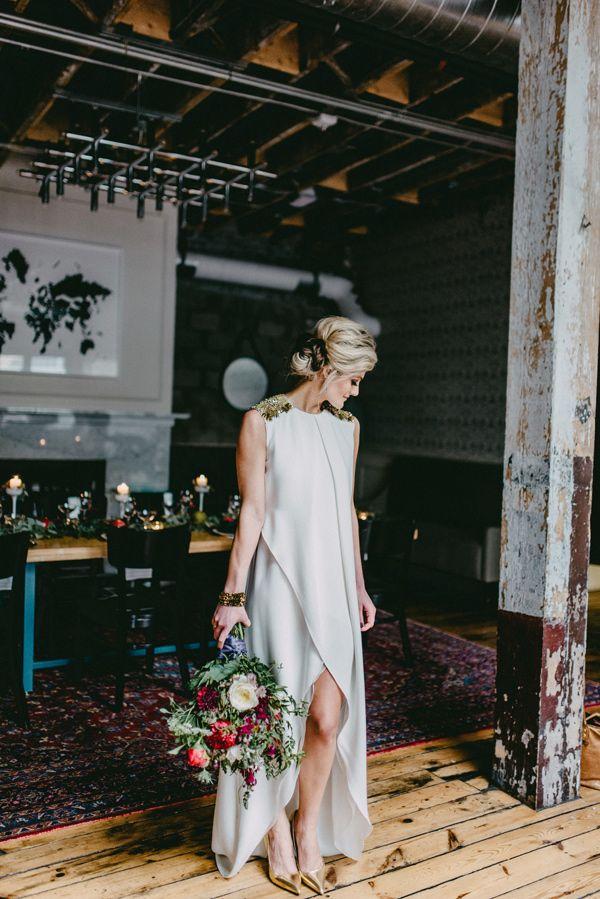 modern wedding reception - photo by Amanda Marie Schwinghammer http://ruffledblog.com/farm-in-the-city-wedding-inspiration