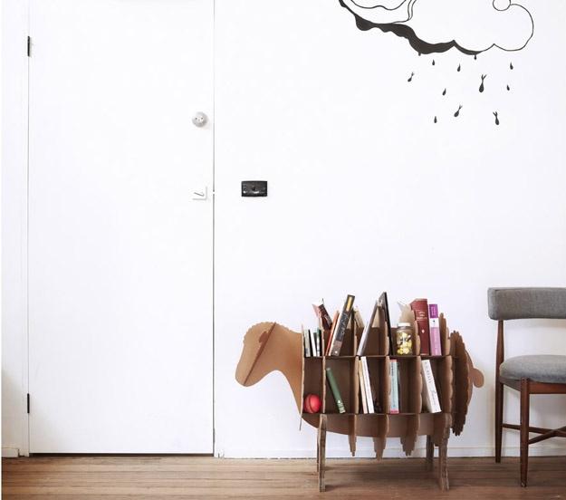 Karton. $89  Estantería oveja.: Interior Design, Cardboard Furniture, Estantería Oveja, Lamp Shades, Diy