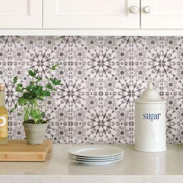 Wallpaper That Looks Like Backsplash Tile