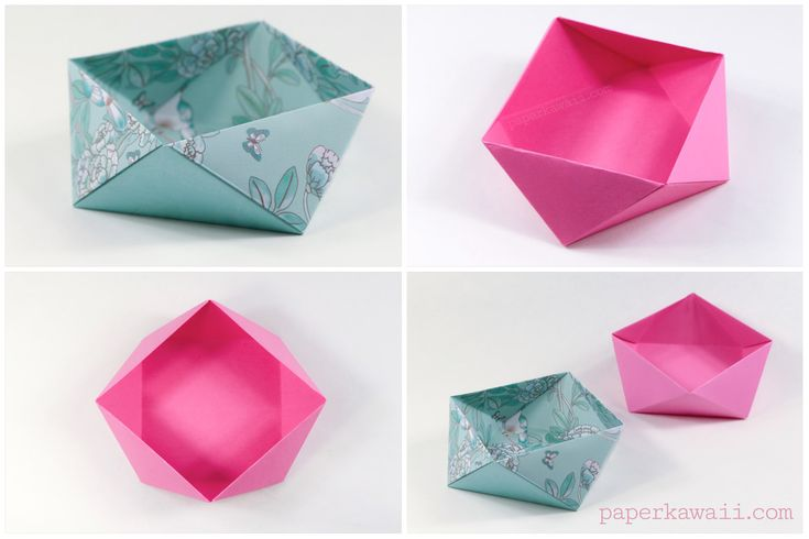 Learn how to make a traditional origami square bowl or box, this box looks as if it's twisted, and is very easy to make. Easy step by step instructions.