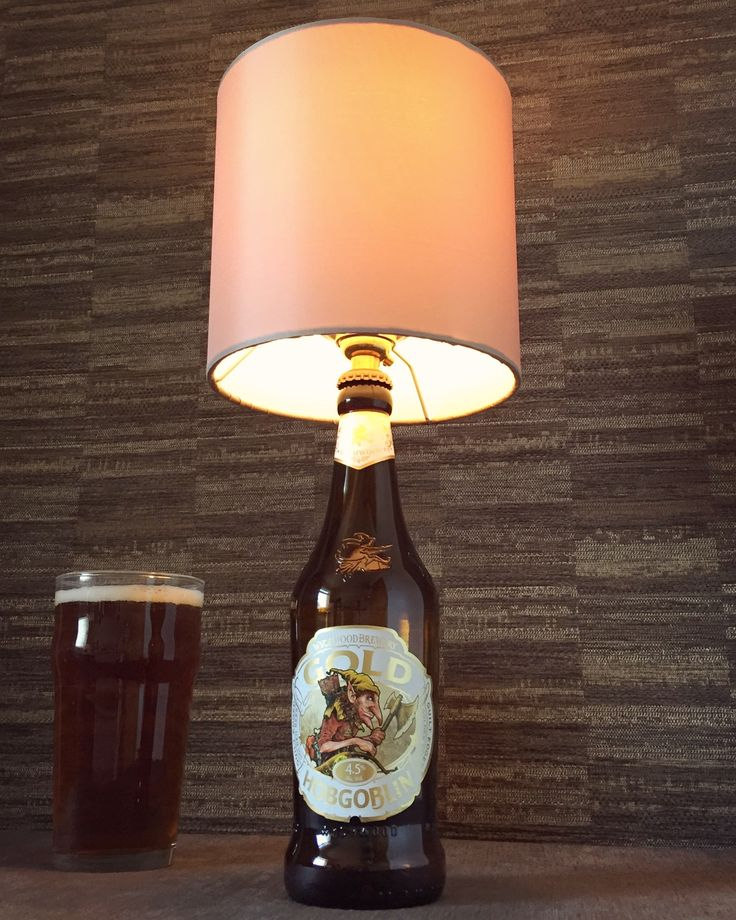 Now on Etsy! :) https://www.etsy.com/uk/listing/514001860/hobgoblin-gold-beer-bottle-lamp-with?ref=shop_home_active_1 #hobgoblin #craftbeer #beer #bottlelamp #bottle #lamp #steampunk #gold #decor #fathersday #gift #present