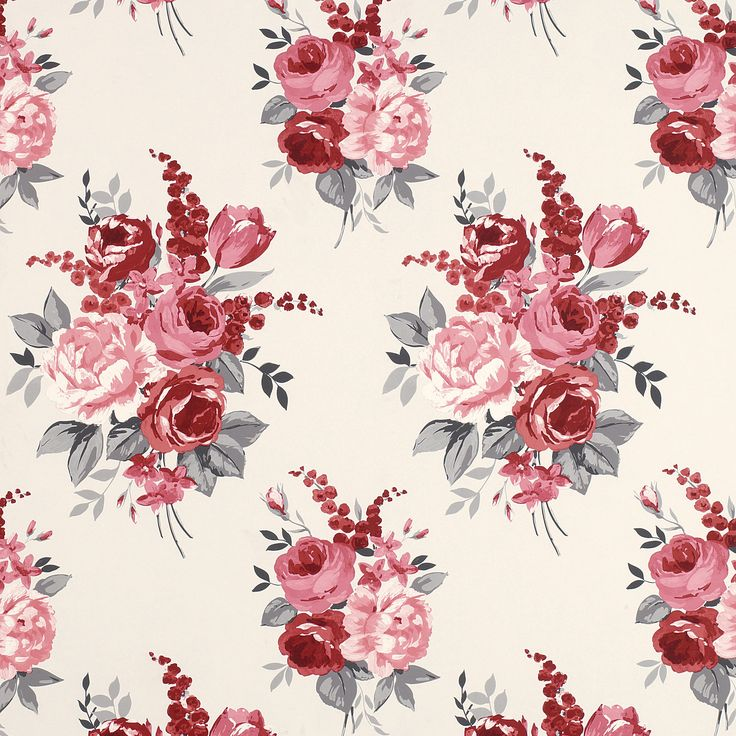This is a Chiswick Cranberry Floral Wallpaper made by Laura Ashley. I think she made this by drawing the illustrations and then painting it with watercolour on cream paper. I chose to look at this because I like the watercolour techniques she has used. She made two illustrations that are placed in a symmetrical form.