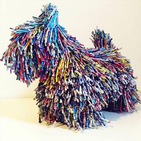 Gosia Walton's Scottie Dog sculptures have been attracting interest.