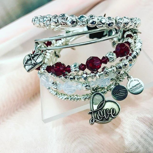 ALEX AND ANI Valentines Day 2017 Collection | ALEX AND ANI Beaded Bangles with Swarovski Crystals | Love Charm Bangle