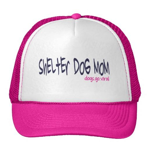 Shelter Dog Mom Hat (pink) #zazzle #shelterpets #awareness #rescue #fundraiser #hats