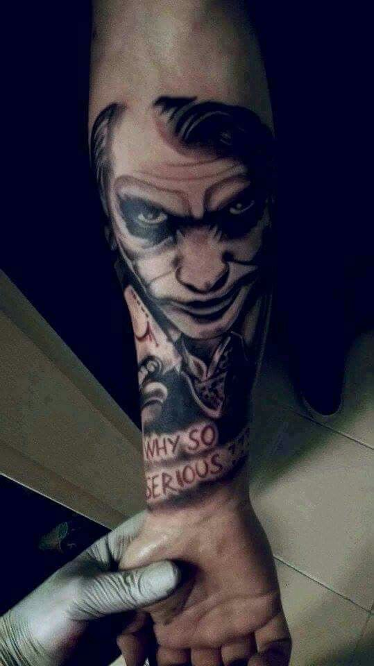 Joker tattoo sleipnir ink