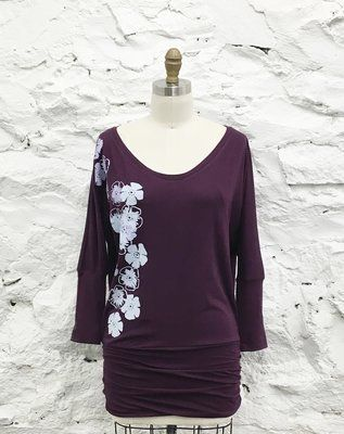 Printed Iris Dolman Sleeved Top-Available in 6 Colours