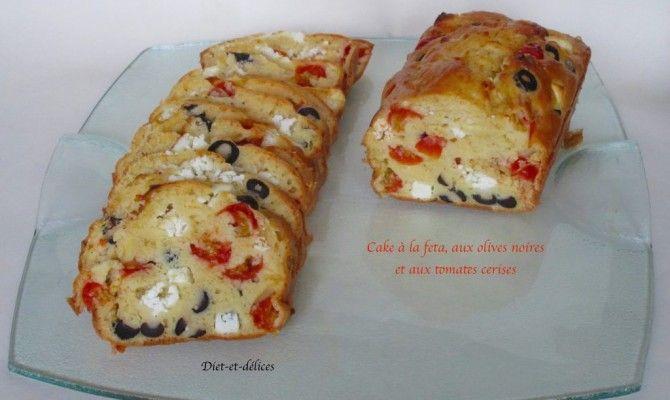 Cake à la feta, aux olives noires et aux tomates cerises : Diet & Délices - Recettes dietétiques