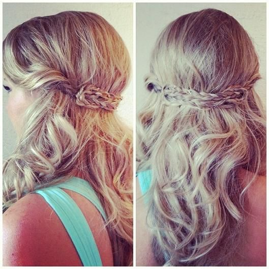 Half Up Half Down 15 Hairstyles Perfect For Prom Half Up Plays And Braids