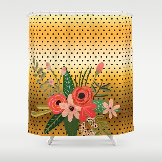 Flowers Bouquet 3 Shower Curtain Curtains