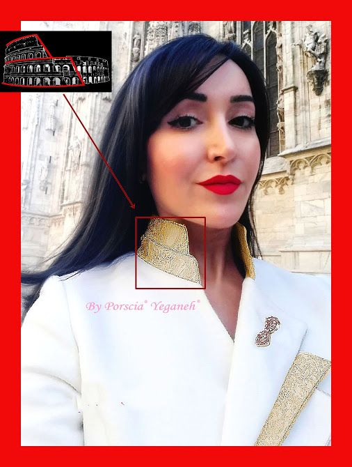An expression far beyond the power of design. A symbol of the #RomanColosseum architecture vividly crafted on the collar presenting #MyTrademark & #MadeinItaly Craftsmanship- -#PORSCIAYEGANEH®  For my ladies! I have you in mind all the time! =)