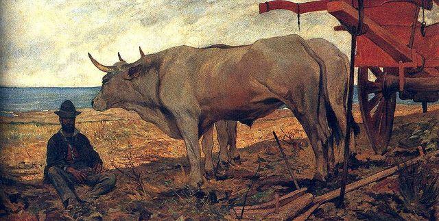 Fattori, Giovanni (1825-1908) - 1897c. The Red Wagon (Pinacoteca di Brera, Italy) | Flickr - Photo Sharing!