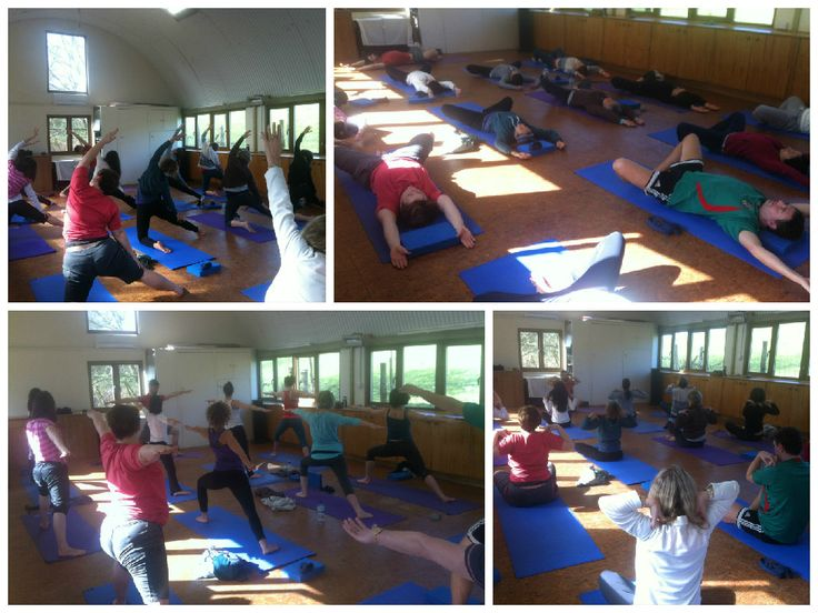 Morning Yoga at our Easter Weekend Yoga Retreat in Wales