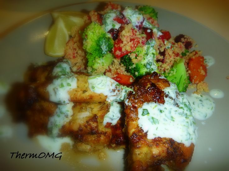 BBQ Lime Chicken with Cous Cous SaladThermOMG
