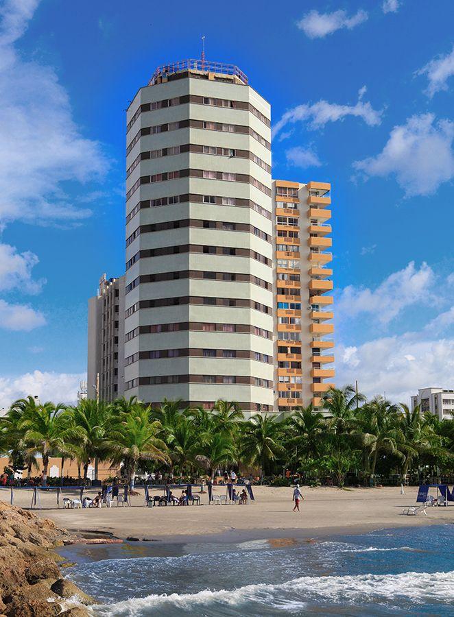Panorámica del Hotel Dorado en Cartagena frente al mar
