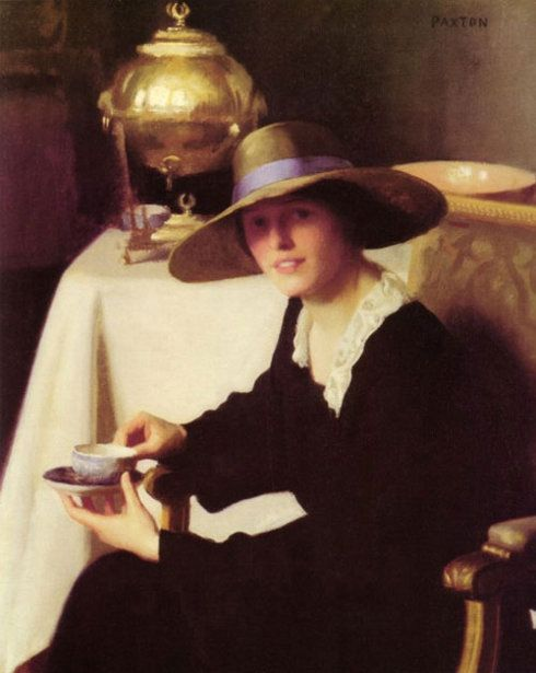 The Samovar by william macgregor paxton: